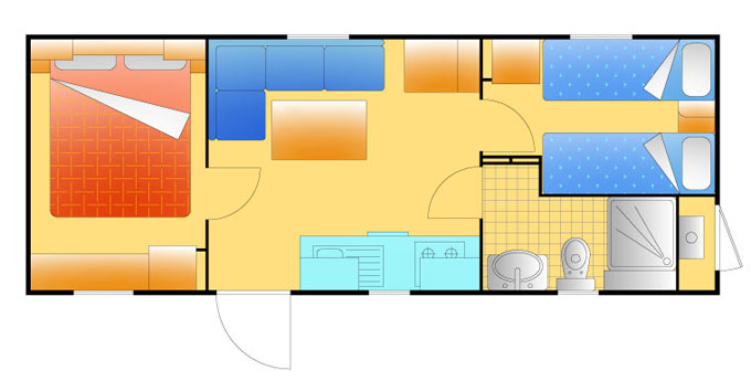 Mobile Home Standard Ravenna Mobile Home Three rooms apartments